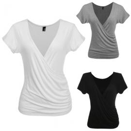 2aaa2e2cfe46 Tops   Blouses Zeagoo Women Sexy Deep V-Neck T Shirt Tops Both Side Wear