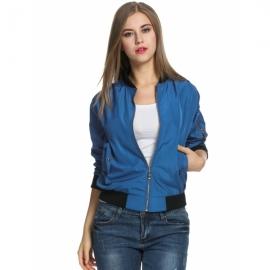 c14ddb9ad3 Tops   Blouses Zeagoo Women s Casual Zip-Up Solid Biker Jacket Short Slim  Fit Bomber