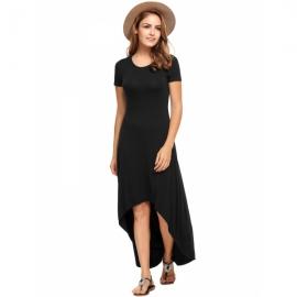 2ab0cc730b9 Dresses Zeagoo Women s Casual Hi Low Long Maxi Dress Short Sleeve Summer  Swing Dress