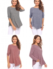 6fa06a63fd589 Zeagoo Women s Fashion Plus Size Knitted Round Neck Casual Pullover Sweater
