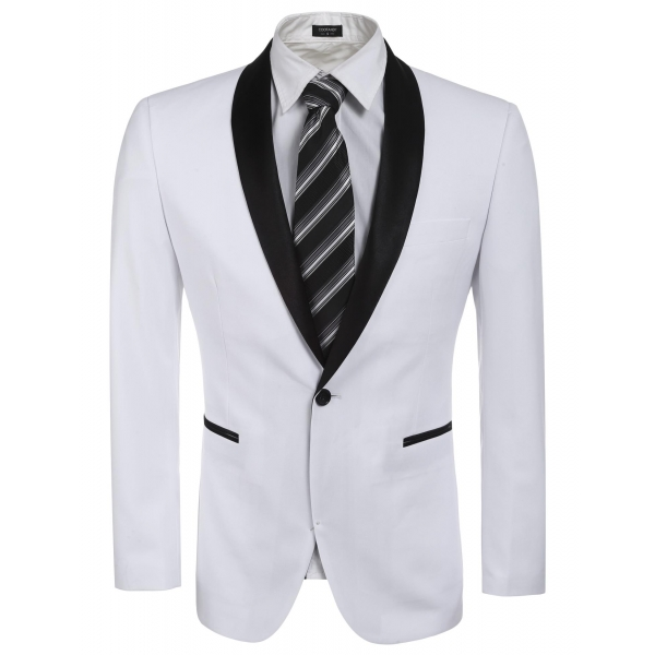 d7db23b38ac Coofandy Mens Casual Stand Collar Contrast Color Button Suits Blazer Jacket (Khaki